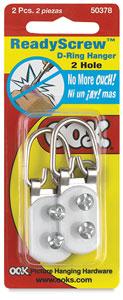 Pkg of 2 Hangers, 2 Holes