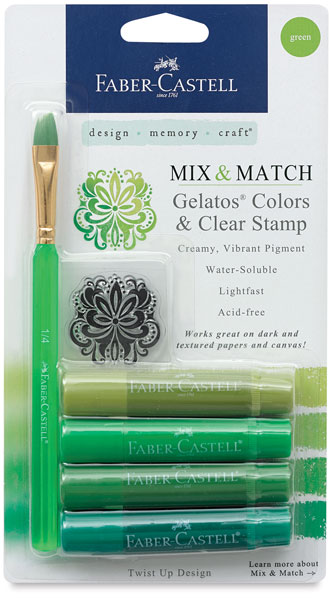 Mix & Match, Assorted Greens, Set of 4