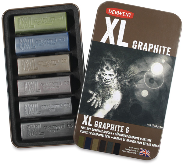 Graphite Blocks, Set of 6