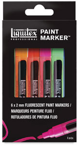 Flourescent Colors, Fine, Set of 6