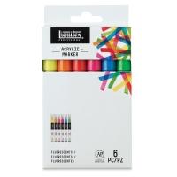 Flourescent Colors, Fine, Set of 6