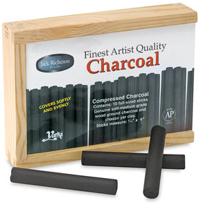 Pressed Charcoal, Box of 10