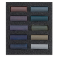 Set of 10, Dark Shades, Half-Sticks