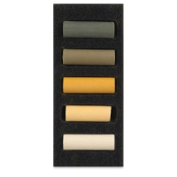 Set of 5, Yellow Ochres, Half-Sticks