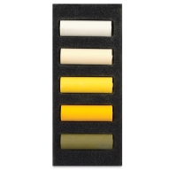 Set of 5, Warm Yellows, Half-Sticks
