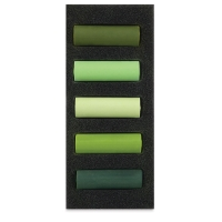 Set of 5, Lush Greens, Half-Sticks