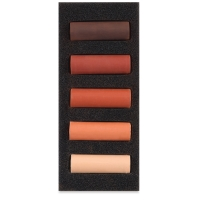 Set of 5, Burnt Sienna, Half-Sticks