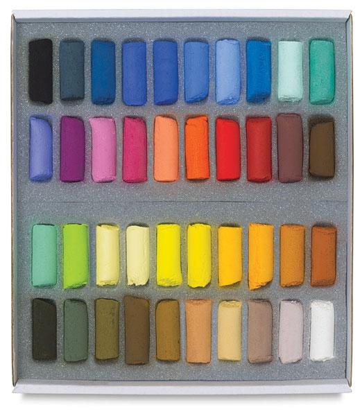 Assorted Colors, Set of 40, Half-Sticks