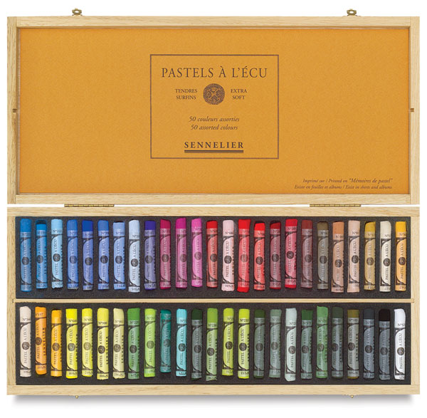 Assorted Colors, Wooden Box Set of 50, Full Sticks