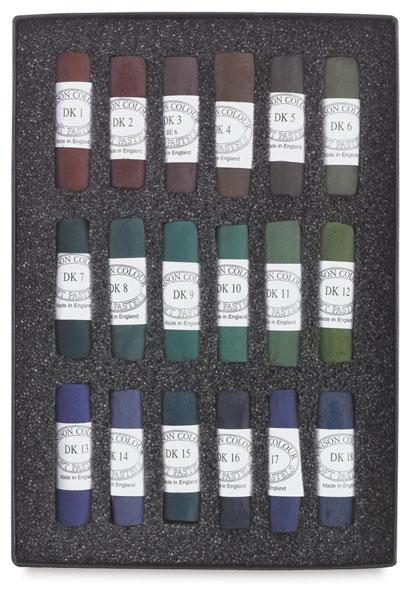 Set of 18, Dark Colors