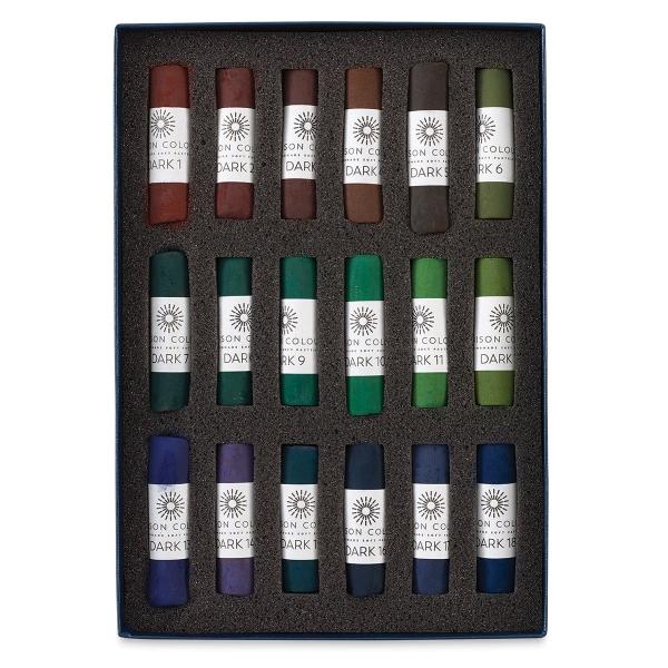 Dark Colors, Set of 18