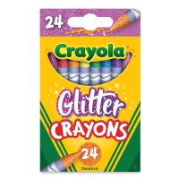 Glitter Crayons, Set of 24