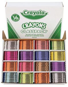 Classpack of 800, with 16 Colors