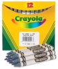 Gray Crayons, Box of 12 (Bulk)