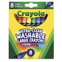 Large Ultra-Clean Washable Crayons, Set of 8