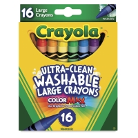 Large Ultra-Clean Washable Crayons, Set of 16
