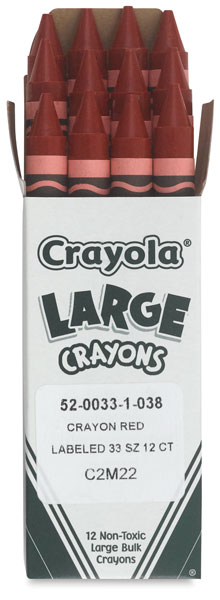 Large Red Crayons (Bulk)