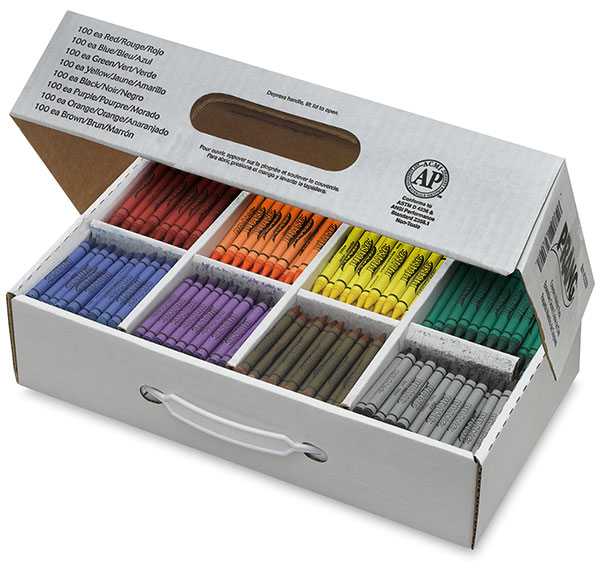 Master Pack of 800 Crayons, 100 of Each