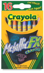 Metallic FX Crayons, Pkg of 16