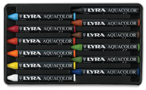 Water-Soluble Crayons, Set of 12 Colors