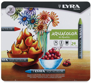 Water-Soluble Crayons, Set of 24 Colors