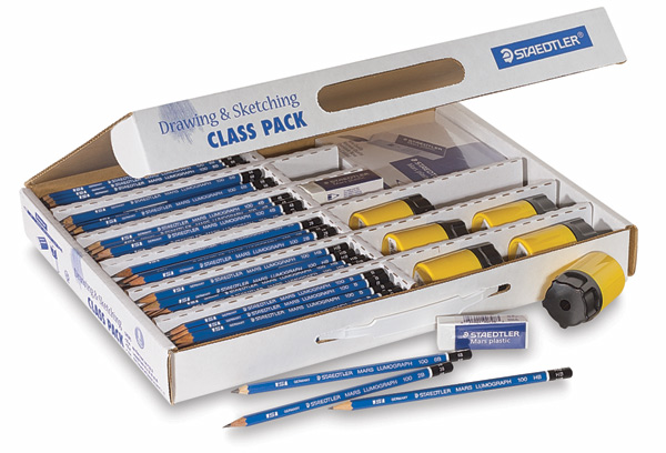 Lumograph Pencils, Class Pack with 181 Pieces