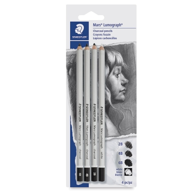 Mars Lumograph Charcoal Pencils, Set of 4