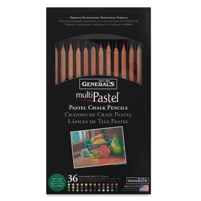 Pastel Chalk Pencils, Set of 36