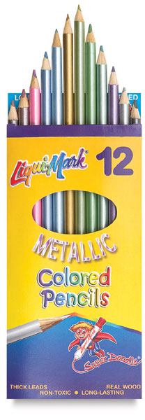 Metallic Colored Pencils, Set of 12