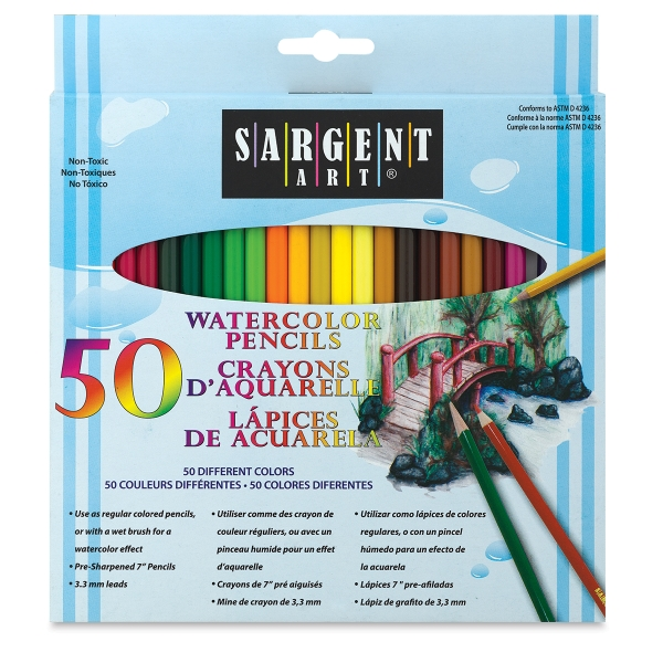 Watercolor Pencils, Set of 50