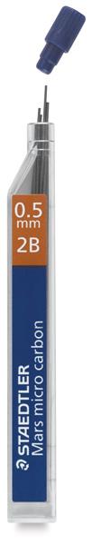 0.5 mm, 2B Lead Refills, Pkg of 12
