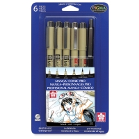 Manga Comic Pro Set, 6 Pieces