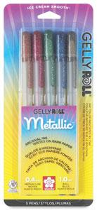 Dark Metallic Colors, Set of 5