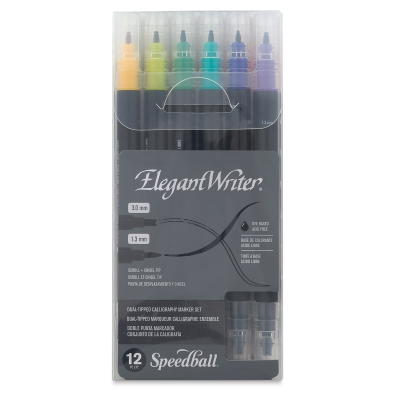 Elegant Writer Dual Tipped Calligraphy Markers, Set of 12