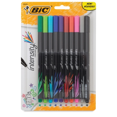 Intensity Fineliner Marker Pens, Set of 10