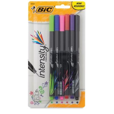 Intensity Fineliner Marker Pens, Set of 6