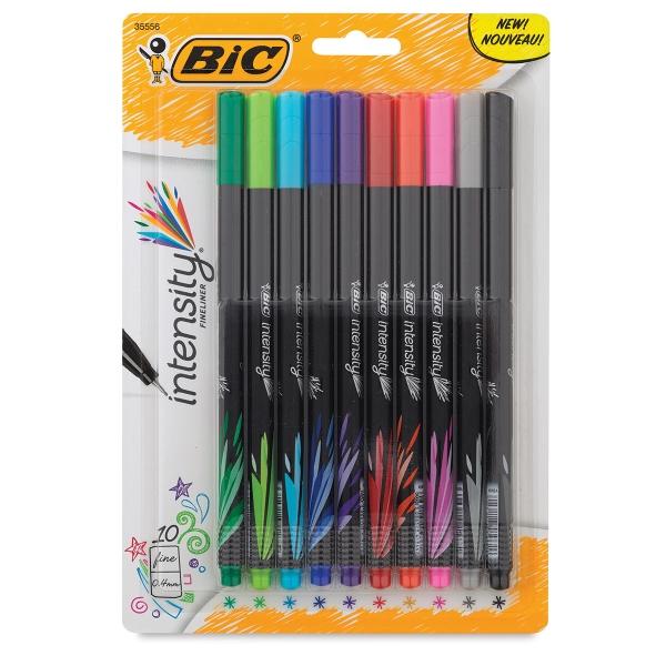 Intensity Fineliner Marker Pens, Set of 10