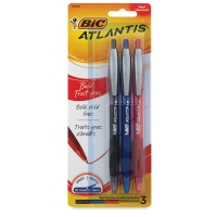Bold Retractable Ball Pens, Set of 3