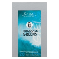 Turquoise Greens, Set of 20