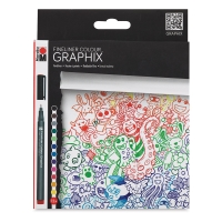 Fineliner Graphix Pens, Hypnotize, Set of 12