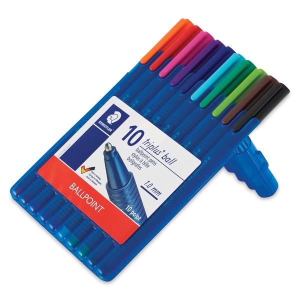 Triplus Ball XB Ballpoint Pens, Set of 10