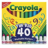 Washable Markers, Set of 40, Broad Tip
