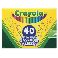 Washable Markers, Set of 40, Fine Line