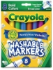 Washable Markers, Bold Colors, Broad Tip, Set of 8