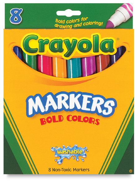 Set of 8, Bold Colors, Broad Tip
