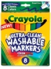 Washable Markers, Set of 8, Classic Colors, Broad Tips