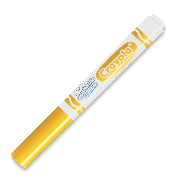 Washable Marker, Broad Tip, Yellow