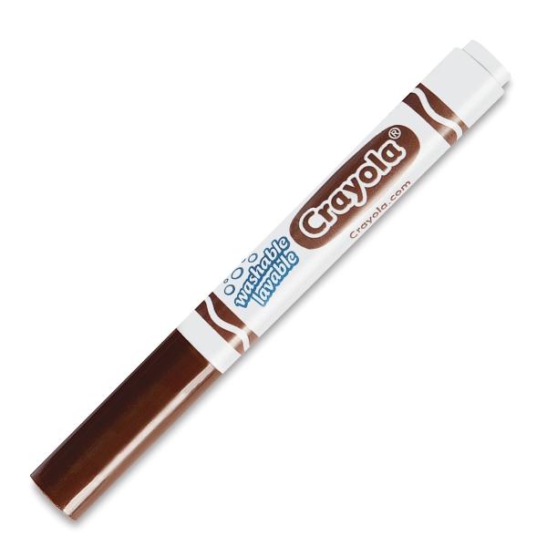 Washable Marker, Broad Tip, Brown