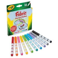 Fine Line Fabric Markers, Set of 10