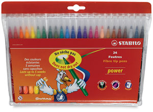 Power Markers, Wallet of 24 Colors